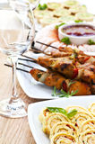 Assorted appetizers Royalty Free Stock Images