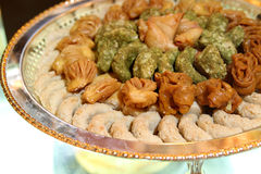 Assorted arabic sweets. Assorted arabic sweet, arabic sweets Stock Image