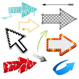 Assorted Arrow Collection Stock Image
