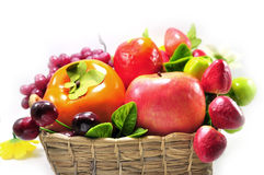 Assorted artificial fruits Stock Photography