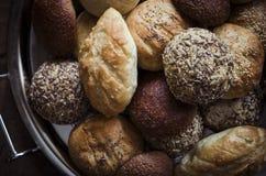 Assorted Artisan Bread Rolls Stock Photos