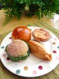 Assorted asian snacks royalty free stock photos
