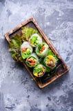 Fresh spring roll Stock Photo