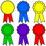 Assorted Award Ribbons Stock Photos