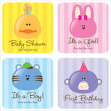 Assorted Baby Cards royalty free stock image