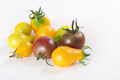 Free Assorted Baby Heirloom Tomatoes On White Stock Photography - 15225902
