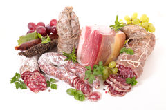Assorted bacon and salami Royalty Free Stock Image