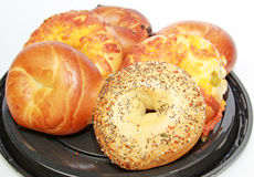Assorted Bagels Stock Photography
