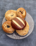 Assorted bakery rolls and bagels. A selection of assoted bakery rolls and bagels Royalty Free Stock Photos