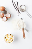 Assorted Baking Ingredients and Tools Stock Photos