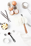 Assorted Baking Ingredients and Tools Royalty Free Stock Image