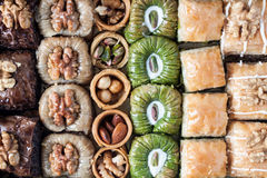 Assorted baklava desserts Royalty Free Stock Images