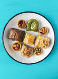 Assorted baklava desserts Royalty Free Stock Image