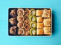 Assorted baklava desserts Royalty Free Stock Photo