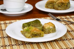 Assorted Baklava on plate stock images