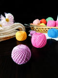 Assorted balls of yarn. Set of multicoloured yarn for knitting royalty free stock photography