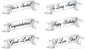 Assorted Banners and Ribbons Royalty Free Stock Images
