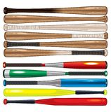 Assorted Baseball and Softball Bats stock illustration