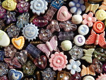Assorted Beads Background Image Stock Photo