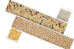 Assorted beans Stock Images