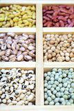 Assorted beans in market place Royalty Free Stock Images