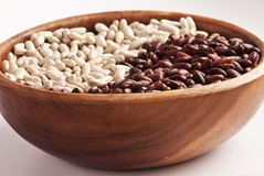 Assorted Beans in the wooden bowl Royalty Free Stock Image