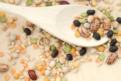Assorted beans Stock Photography