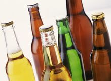 Assorted Beer Bottles Stock Photo