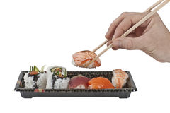 Assorted bento box sushi Royalty Free Stock Image