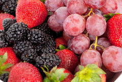 Assorted berries  background Royalty Free Stock Photo