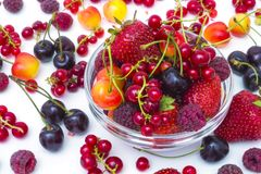 Assorted berries Royalty Free Stock Photos