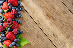 Assorted berries on the table Royalty Free Stock Photography