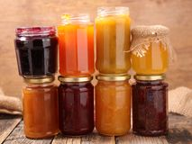 Assorted berry fruit jam Stock Images