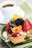 Assorted Berry Tart With Coffee Royalty Free Stock Photography