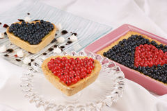 Assorted berry tarts Royalty Free Stock Image