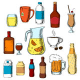 Assorted beverages, alcohol and drinks Stock Photography