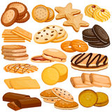 Assorted Biscuit and Cookies Food Collection Royalty Free Stock Photography