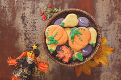 Assorted biscuits for Halloween Stock Photo