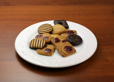 Assorted biscuits on table Royalty Free Stock Photo