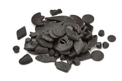 Assorted black and brown liquorice Royalty Free Stock Image
