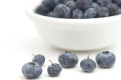 Assorted blueberries Royalty Free Stock Photo