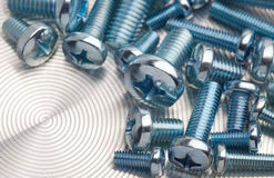 Assorted bolts closeup Royalty Free Stock Image