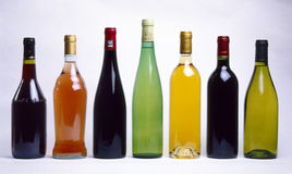 Assorted botles of wine. Food , drinks, beverages,cookery royalty free stock photos