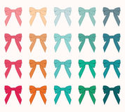 Assorted Bows Vector Set Stock Photos