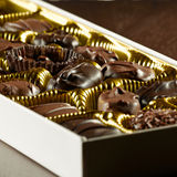 Assorted box of chocolates. Royalty Free Stock Images