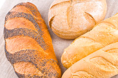 Assorted bread Royalty Free Stock Images