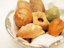 Assorted bread in basket. Closeup of assorted bread in basket to be served in restaurant Royalty Free Stock Photography