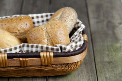 Assorted bread in basket Stock Photography