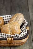 Assorted bread in basket Royalty Free Stock Photos