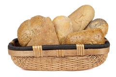 Assorted bread basket Royalty Free Stock Photography